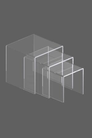 set van 3 acryl bruggetjes - buyck displays - BU-1208-05-50