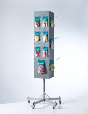 BU930-Buyck Displays-MOLEN MET GEPERFOREERDE PLATEN IN METAAL VOOR LOSSE HAKEN