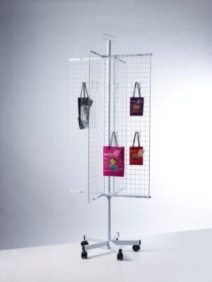 PW012-Buyck Displays-MOLEN MET NET-STRUCTUUR IN METAAL VOOR LOSSE HAKEN