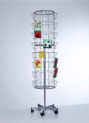 PC64-Buyck Displays-METALEN VLOERDISPLAY VOOR WENSKAARTEN