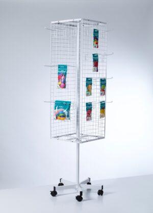 PW011-Buyck Displays-MOLEN MET NET-STRUCTUUR IN METAAL VOOR LOSSE HAKEN