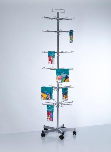 PW085 - Buyck Displays - Présentoir de sol tournant - étages avec broches