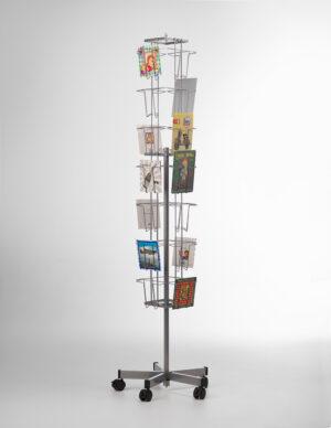 PC-A5-28-Buyck Displays-A5 kaartenmolen met 28 verticale vakken