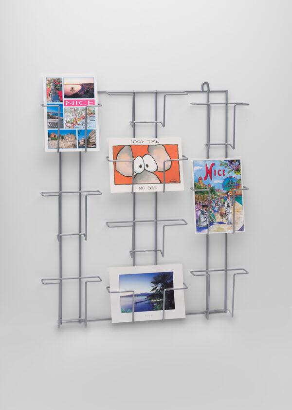 PC6V+4H-Buyck Displays-wandrek voor ansicht-/postkaarten met 6 verticale en 4 horizontale vakken