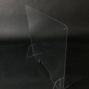 PCS12075-Buyck Displays-ÉCRAN DE PRÉVENTION « ANTI-CORONA » ACRYLIQUE POUR COMPTOIR OU BUREAU AVEC OUVERTURE PASSABLE