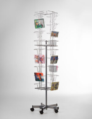 pc.a5.36-Buyck Displays-kaartenmolen met 36 horizontale vakken